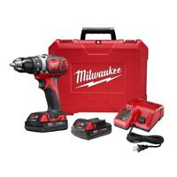 "Milwaukee Tool 2606-22CT M18 18-Volt Lithium-Ion 1/2""  Drill Driver Compact Kit"
