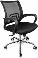 Simple Deluxe Task Office Chair Ergonomic Mesh Computer Chair w. Wheels and Arms