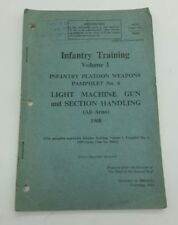 Post WW2 British Army Border Regiment 1968 Infantry Training Booklet Penrith