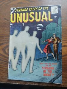 Atlas Comics STRANGE TALES of The Unusual  #7 DEC 1956 Silver Age Comic good+