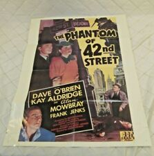 The Phantom of 42nd Street Vintage Movie Poster 1945 Detective Thriller