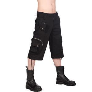 Black Pistol Gothic Punk Industrial Festival Shorts Kurze Hose Army Short Pants