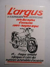 Autocollant Sticker L'ARGUS MOTOS AUTOS - VINTAGE Années 1970-80