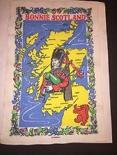 BONNIE SCOTLAND Linen Tea Towel Causeway ~~NICE CONDITION~~