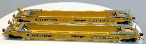 (2) ATHEARN HO 48' Trailer Train Container Well Cars DTTX #56004 & #56079