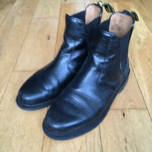 Dr. Martens 2976 Chelsea Boots Black Tumbled Leather UK8 / £150 RRP