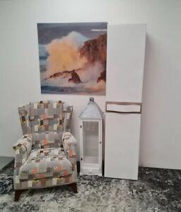 1 Door Single Wardrobe/Cupboard-White Gloss/Oak Sonoma. PASSIONATA. PS3. NEW