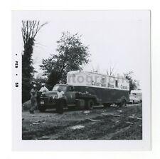 Cristiani Bros. Circus - Elephant Truck - Vintage Glossy Snapshot - 1959