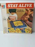 Vintage MB Games Stay Alive board game - retro 1977 - complete