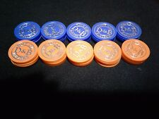Dave and Buster's Coin Pusher Lot 100 Chips (Orange or Blue) Worth 2000 Tickets