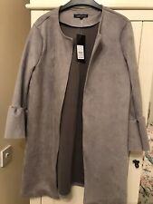 Bnwt Size 12 New Look Ladies Grey Faux Suede Jacket