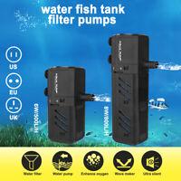 SUBMERSIBLE AQUARIUM INTERNAL FILTER PUMP - 500L/H 800L/H - Fish Tank Water