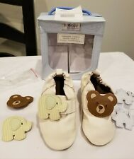 Robeez Sole Leather shoes Animals on Parade Customizable unisex 12-18months