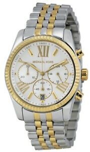 Michael Kors Women's Lexington Two Tone Gold Silver Stainless Steel Watch MK5955