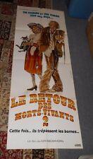 original RETURN OF THE LIVING DEAD PART II FRENCH 61x23 DOOR PANEL POSTER couple