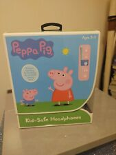 Official Peppa Pig Kid-Safe Headphone Ages 3-9 Built In Volume Limiter New