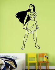 Pocahontas Sticker Disney Princess Vinyl Wall Decal Art Kids Girl Room Decor pc1
