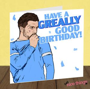 Jack Grealish Birthday Card, City Birthday Cards for Him, Football Birthday Card