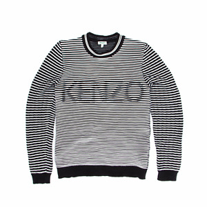 Kenzo Paris Striped Holographic Logo Sweater
