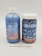 Bath & Body Works Santa'S Blueberry Shortbread Bubble Bath + Bath Salts Set