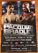 Boxing Original MANNY PACQUIAO vs. TIMOTHY BRADLEY I HBO PPV 27x40 Poster 2012