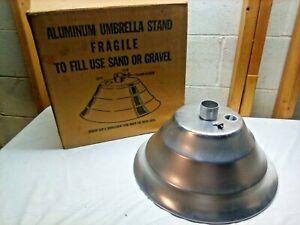 Vintage Aluminum Stepped Patio Umbrella Stand~1960's~NOS!