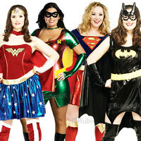 Superhero Plus Size UK 16-20 Ladies Fancy Dress Comic Character Womens Costume