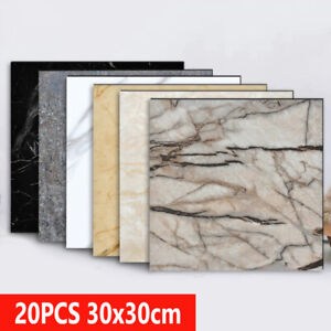 20Pcs 3D Marble Wall Stickers Home DIY Decoration Self-Adhesive Waterproof Decal