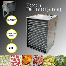 Commercial Food Dehydrator 16 Tray +Temp+Time Control for Fruit Meat Jerky Dryer
