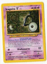 Pokemon Karte Icognito V 89/105 Neo Destiny DE deutsch NM