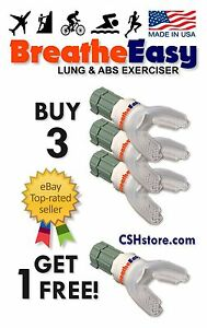 4x BreatheEasy Respiratory Aid & Lung Exerciser! W/ eBook! BUY 3 GET 1 FREE