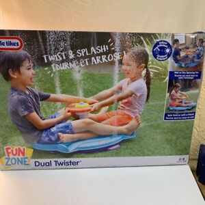 Little Tikes Fun Zone Dual Twister Indoor Outdoor Water Play Toy Seated Spinner