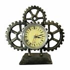 Steampunk Gear Desk Clock Table Clock Cast Iron
