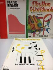 3 Lot New Music Song Books for Beginner Piano Student From Closing Music Store