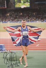 Jonathan Edwards Firmato a Mano Olimpiadi 12x8 foto.