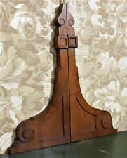 Pair scroll wood carving corbel bracket Antique french architectural salvage