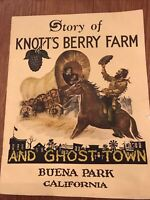 Knott's Berry Farm and Ghost Town 34-page souvenir booklet '40s very good cond.