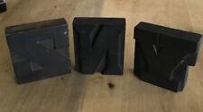 3 Vintage Wooden Printing Letter Blocks S-N-Y