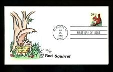 Us Fdc #2489 S/A S2S Steve Wilson Cachet 47/50 Red Squirrel 6/25/1993