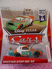 2013 Disney Pixar Cars 15 SPUTTER STOP NO. 92✿Green/White/Orange✿Piston Cup