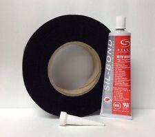 FireBlack125 ® Hi Temp Black Nomex Gasket Kit w/ RTV for Kamado & Primo Grill