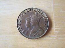 King George VI & Queen Elizabeth Canada 1939 Token