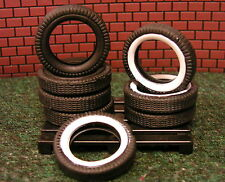 8 Soft Rubber Tires Garage Shop Accessories-1:24 (G) Scale Diorama