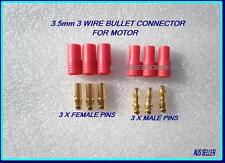 3.5mm 3 WIRE BULLET CONNECTOR FOR ESC MOTOR EC3 DEANS XT60 ACCUCEL 6 LIPO IMAXB6