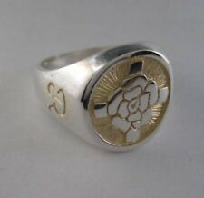 Solid silver Rosicrucian ring - 2419-R