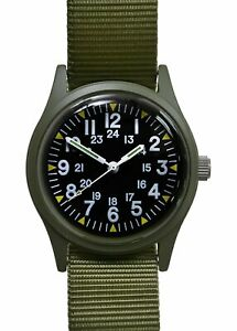 Military Industries Olive Vietnam War Pattern Watch on Matching Strap -Unbranded
