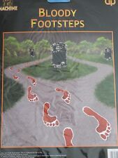 HALLOWEEN 14 BLOODY FOOTSTEPS FEET FOOTPRINTS CARD PARTY FANCY DRESS GAME