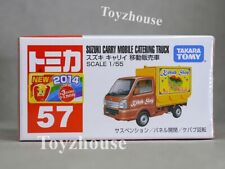 2015 Tomica 57 Suzuki Carry Mobile Catering Truck 1/55 Diecast Model Car NEW