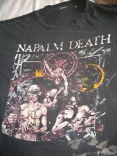 NAPALM DEATH UTOPIA BANISHED TOUR T SHIRT VINTAGE US SIZE XL AS PICTURED