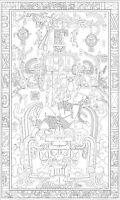 King Kobra Schlange Ureinwohner Tattoo Stil Bild Plakatkunst Reptil A5 Druck